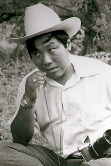 [Chogyam Trungpa Rinpoche wearing a cowboy hat in Crazy Wisdom]