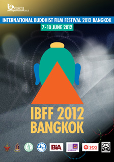 poster of International Buddhist Film Festival, 7–10 June 2012, IBFF 2012 BANGKOK logo